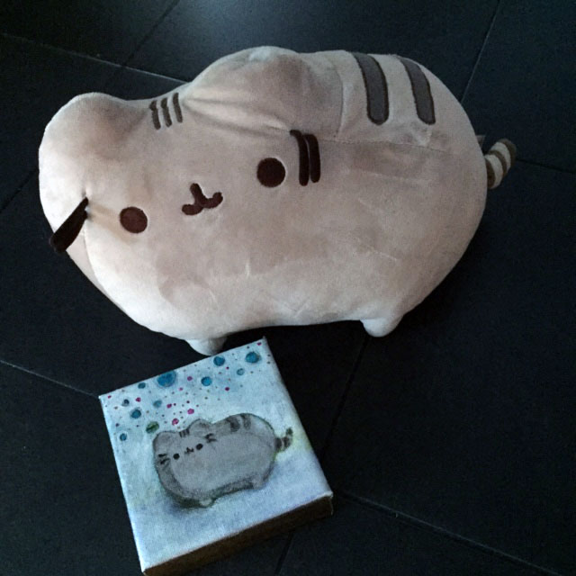 Pusheen_stuffed_animal_painting