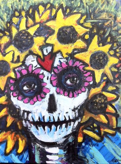 """""""Sunflower Skull"""""""